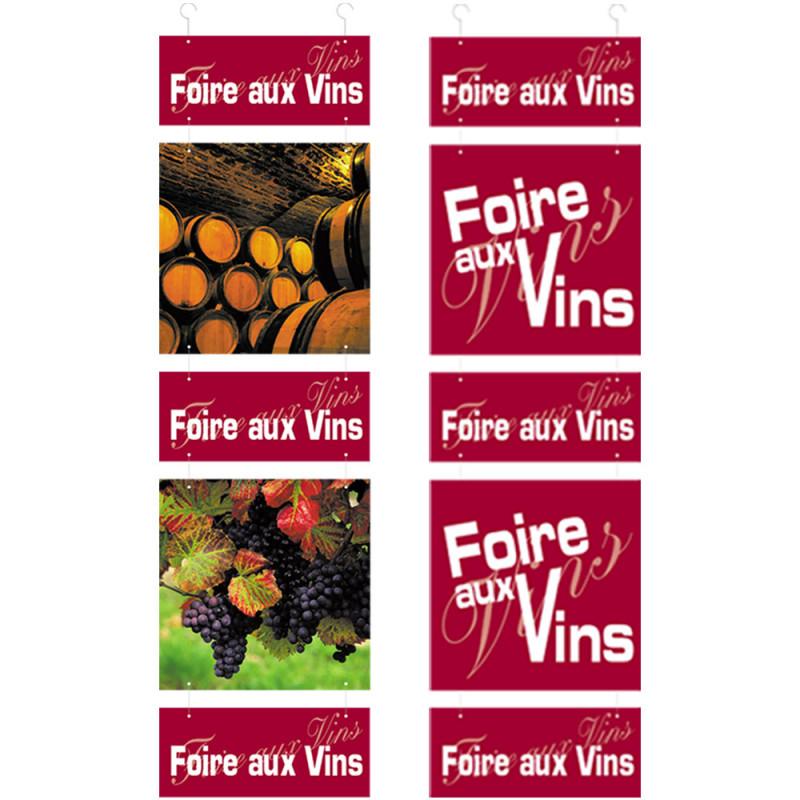 """Kit panneau """"Foire aux Vins"""" 124 cm"""