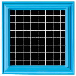 Tableau noir en 3D cadre...