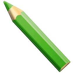 Crayon géant 180cm VERT