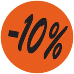 Étiquette adhésive fluo -10%