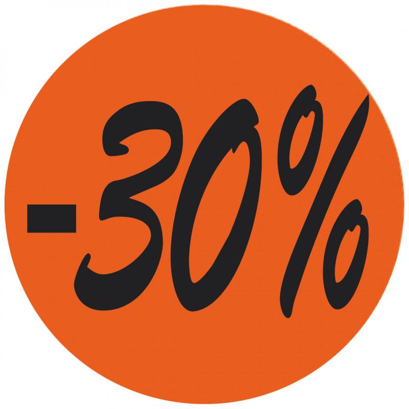 Étiquette adhésive fluo rouge -30%