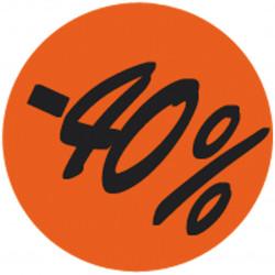 Étiquette adhésive fluo rouge  -40%