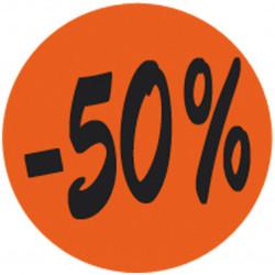 Étiquette adhésive fluo -50%