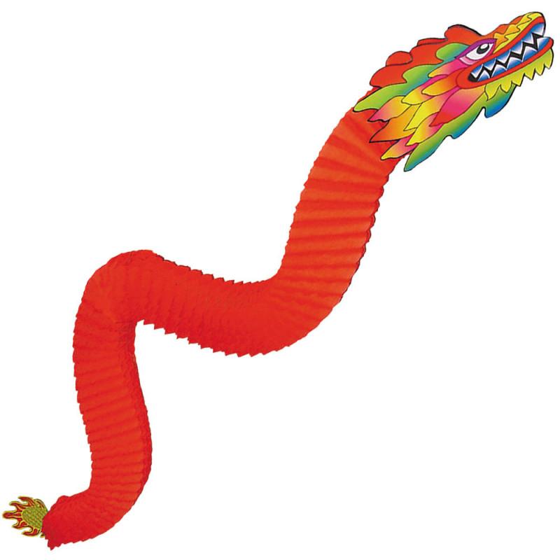 Dragon papier 180 cm rouge