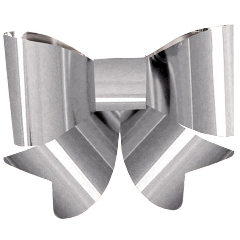 Nœud argent PVC 45 cm