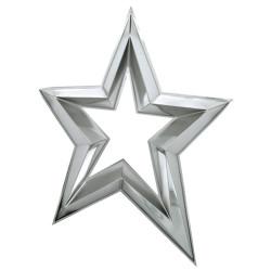 Étoile ajourée en 3D de 120 cm - Argent