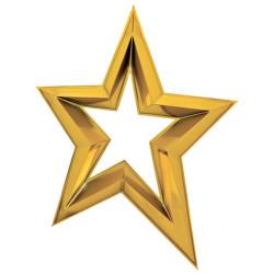 Étoile ajourée en 3D de 120...