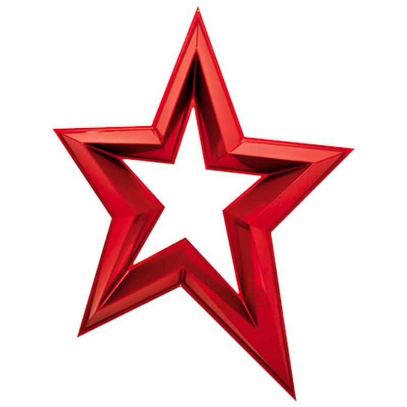 Étoile ajourée en 3D de 120 cm - Rouge