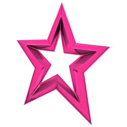 Étoile ajourée en 3D de 120 cm - Fuchsia