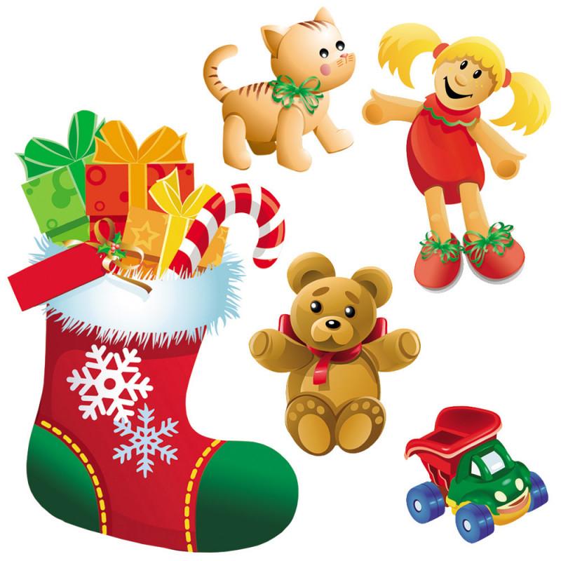 Set de 5 décorations de Noël en PVC