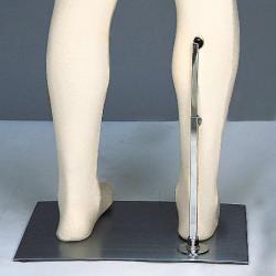 Base acier insert jambe pour mannequin flexible
