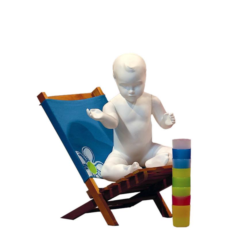 Mannequin plastique Bébé Assis