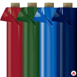 Laquefolie unie ignifugée 65 cm - (4 couleurs) bleu, vert et bordeaux