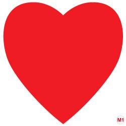 Cœur rouge en papier ignifugé M1 de 30 cm