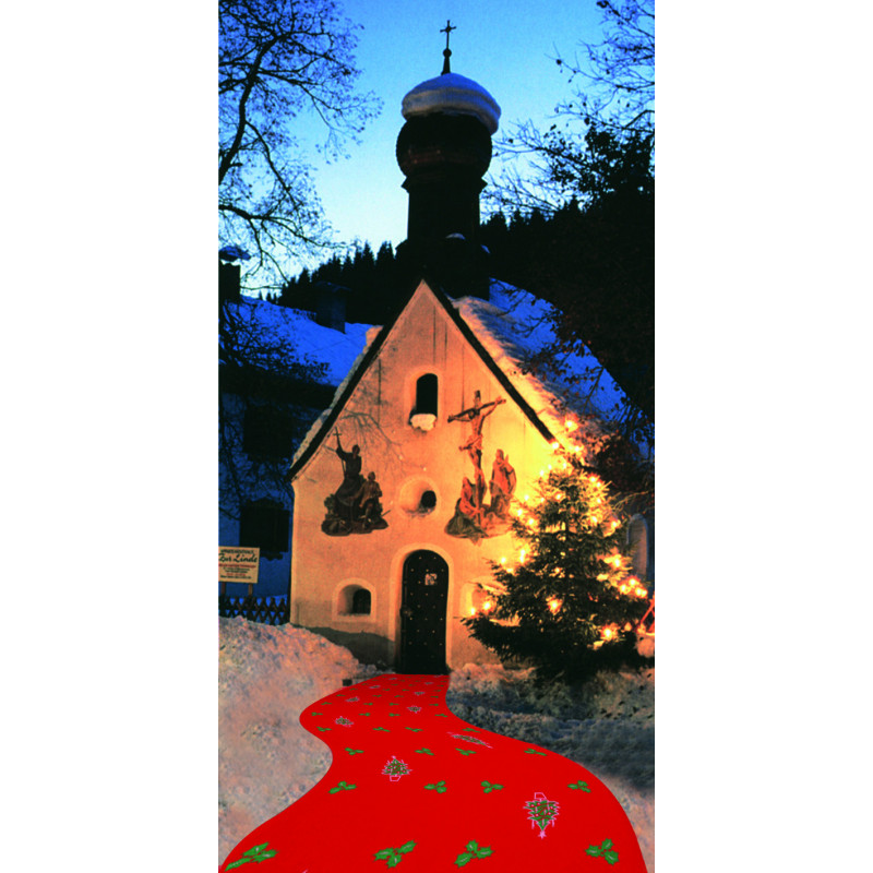 Moquette imprimée de Noël largeur 2 mètres