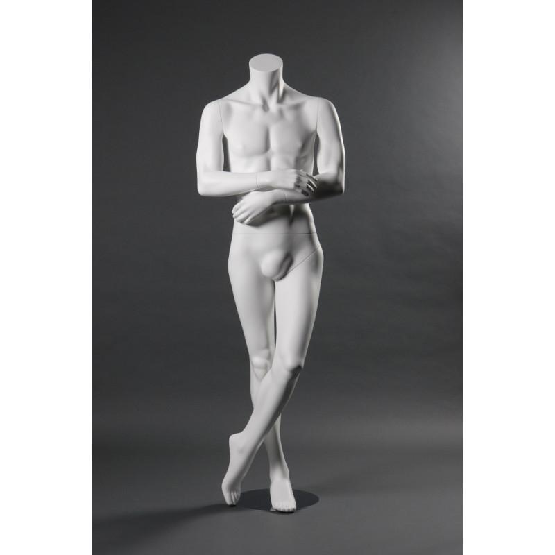 Mannequin Colonne Homme coloris blanc