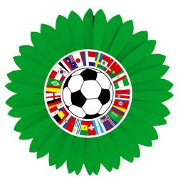 Roue 60 cm + Cut out  décoré d'un ballon et de drapeaux