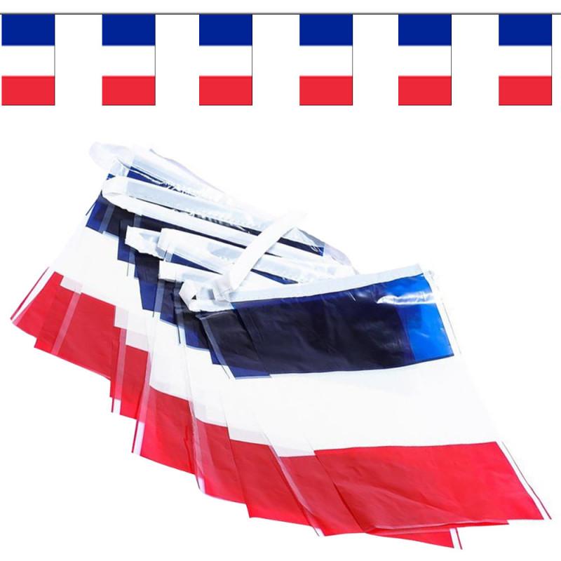"""Guilande 10 drapeaux """"France"""" - 5 mètres"""