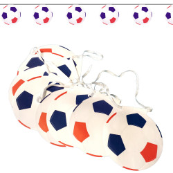 Guirlande de 8 ballons de football FRANCE