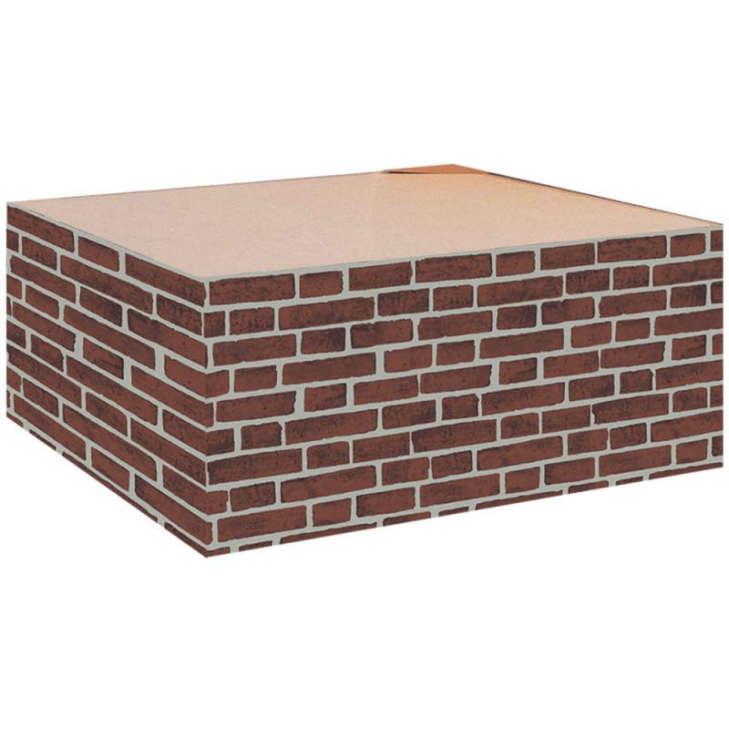 """Cache palette 60 cm """"Mur de brique"""""""