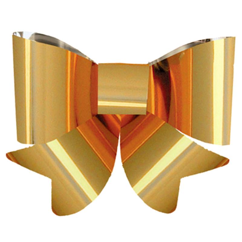 NOEUD PVC PLAT A ASSEMBLIER coloris or 30x30cm