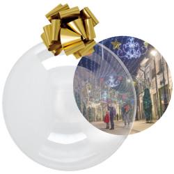 Boule de Noel Ø70 transparente