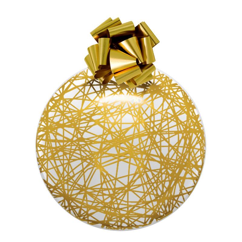 boule de noël transparente et dorée