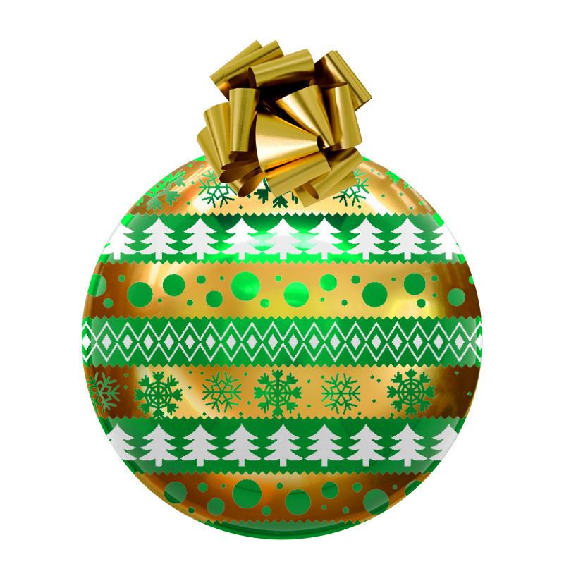 Boule de Noël en PVC thermoformé 70cm verte