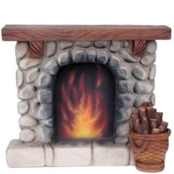 Cheminée feu de bois...