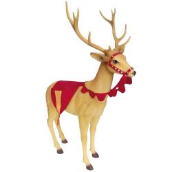 Renne décoré du Père Noël...