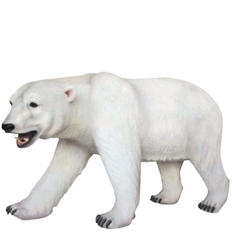 Magnifique ours polaire en résine de 210 cm