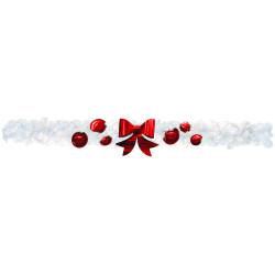 Guirlande de sapin blanche décorée 270 cm