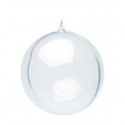 Boule transparente 145 mm - en 2 parties