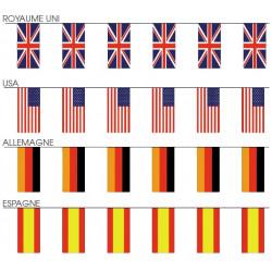 Guirlande de drapeaux - 10 mètres (pvc)