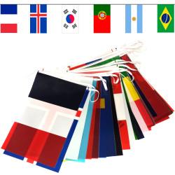 Guirlande 24 pays Coupe du monde 2019 de football féminin.