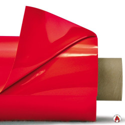 Laquefolie Rouge ignifugée   130 cm