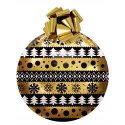 Boule de Noël en PVC thermoformé 55 cm Or et noir