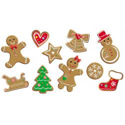 Set de 10 décorations de Noël en PVC décor Biscuit