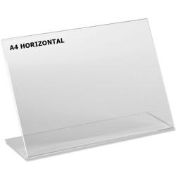 Chevalet plexi A4 horizontal