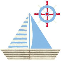 Kit bateau + roue en PVC plat ignifugé