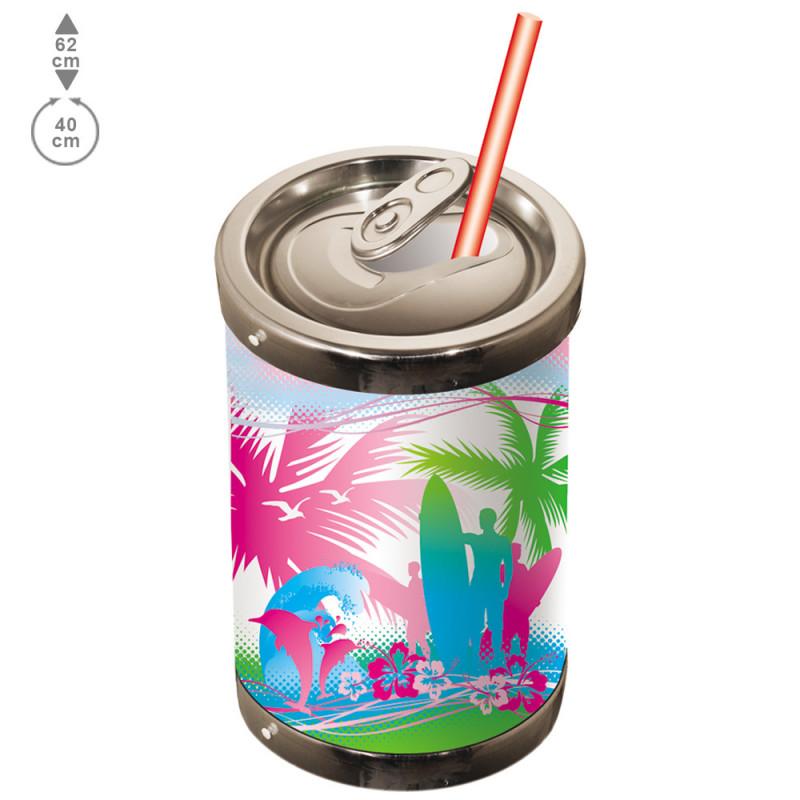 Canette de soda en 3D de 62 cm en PVC thermoformé