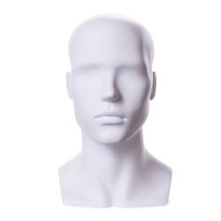 Tête homme abstraite blanche t36