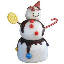 """Superbe bonhomme de neige """"bonbon""""en résine de 160 cm"""