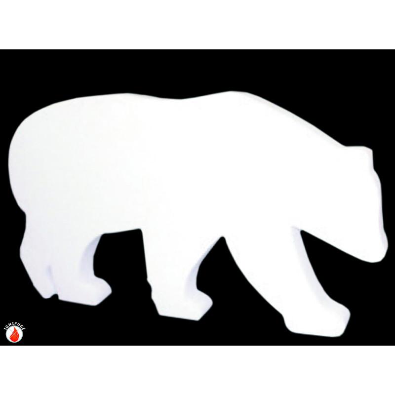 Ours polaire autoportant en ouate compressée et ignifugée