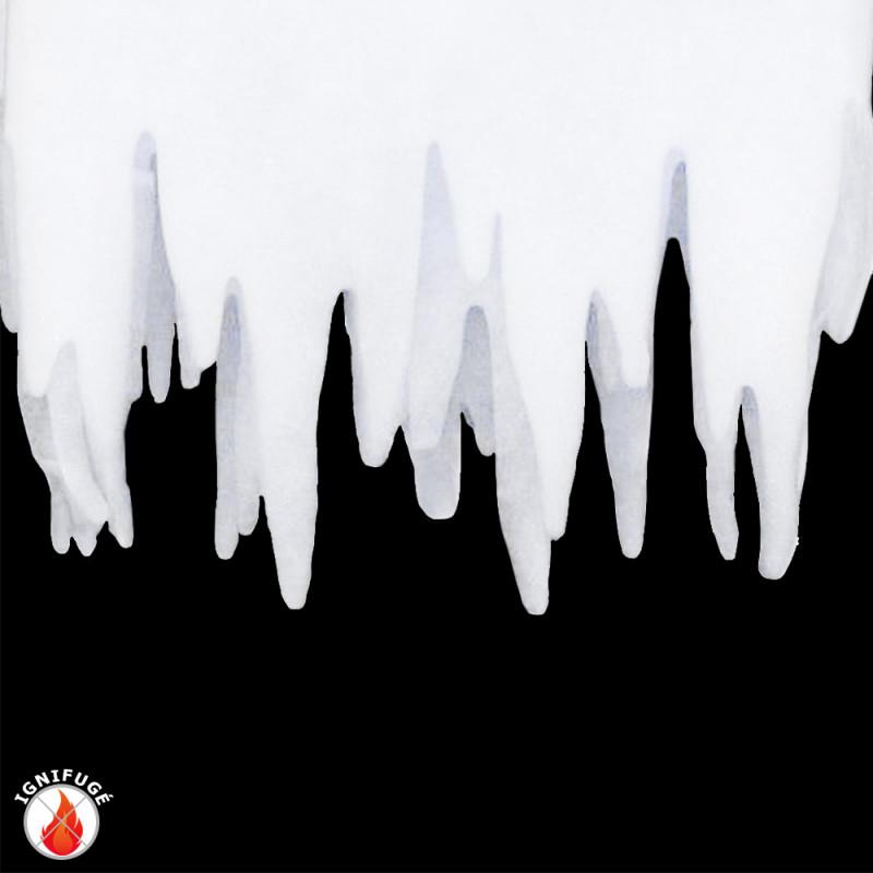 Frise de stalactites de neige en ouate ignifugée de 95 x 35 cm