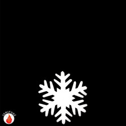 Cristaux de neige de 19 cm en ouate ignifugée