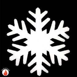 Grand cristaux de neige de 44 cm de diamètre à marier avec les diamètres 19 et 38 cm