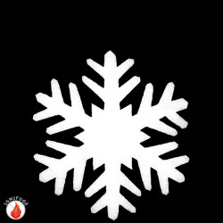 Cristaux de neige de 38 cm en ouate ignifugée
