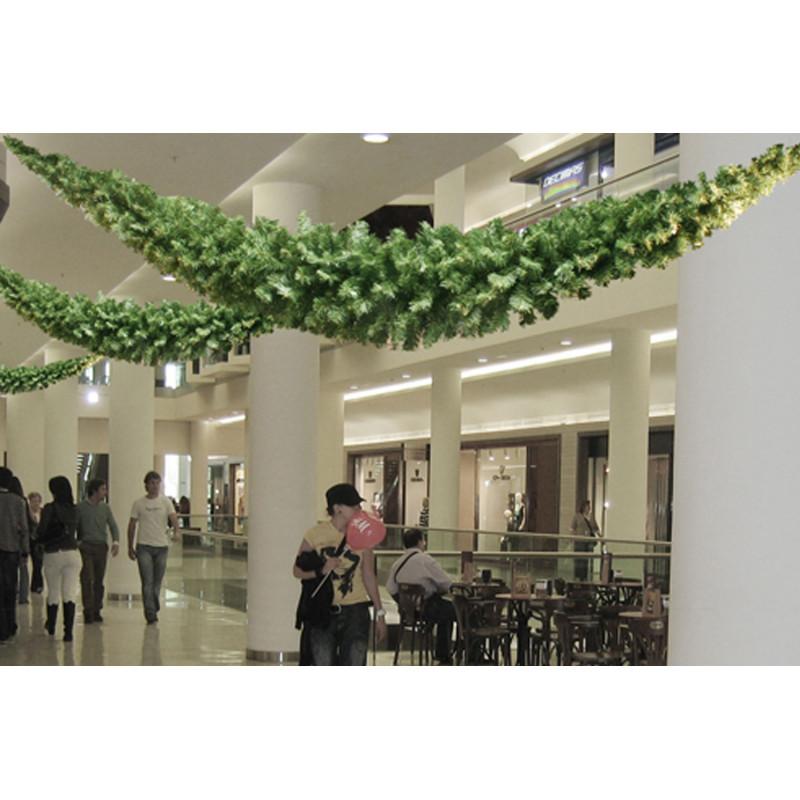 Guirlande Jabot de sapin vert 270 cm