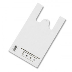 Sacs bretelles blanc 30+14x54 cm
